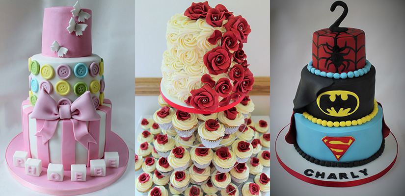 christening cake, wedding cake, birthday cake