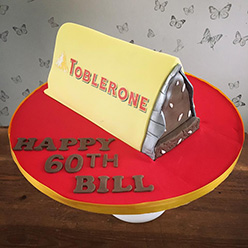 Giant Toblerone birthday cake