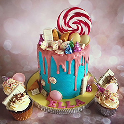 Candyland drippy birthday cake
