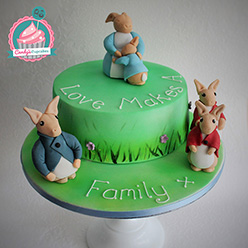 Peter Rabbit birthday cake - Cupcakes and Celebration cakes