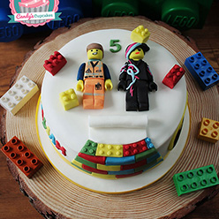 Lego Movie birthday cake - Cupcakes and Celebration cakes