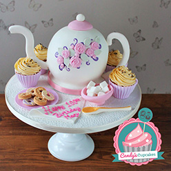 Teapot birthday cake - Cupcakes and Celebration cakes