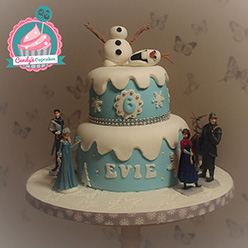Frozen birthday cake - Cupcakes and Celebration cakes