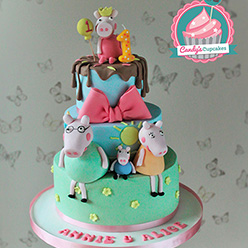 Peppa Pig birthday cake - Cupcakes and Celebration cakes