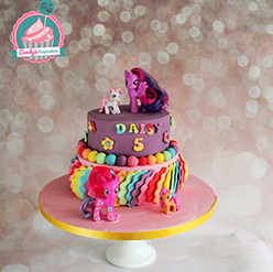My Little Pony birthday cake - Cupcakes and Celebration cakes
