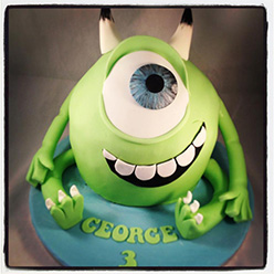 Monsters Inc giant cupcake - Cupcakes and Celebration cakes