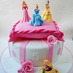 Disney Princesses Birthday Cake