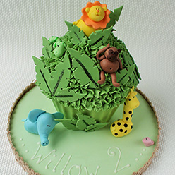 Jungle theme giant cupcake - Cupcakes and Celebration cakes