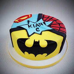 Superhero birthday cake - Cupcakes and Celebration cakes
