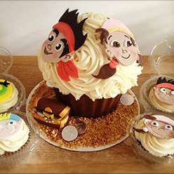 Jake and the Neverland Pirates giant cupcake - Cupcakes and Celebration cakes