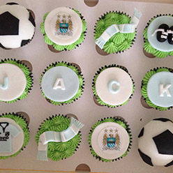 Manchester City cupcakes - Cupcakes and Celebration cakes
