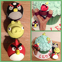 Angry Birds cupcakes - Cupcakes and Celebration cakes