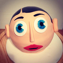 Frank Sidebottom giant cupcake - Cupcakes and Celebration cakes