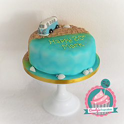 VW Camper Van birthday cake - Cupcakes and Celebration cakes