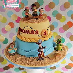 Jake and the Neverland Pirates birthday cake - Cupcakes and Celebration cakes