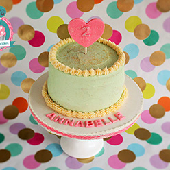 Hidden pink ombre birthday cake - Cupcakes and Celebration cakes