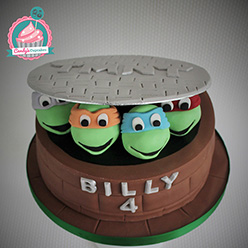 Teenage Mutant Ninja Turtles birthday cake - Cupcakes and Celebration cakes