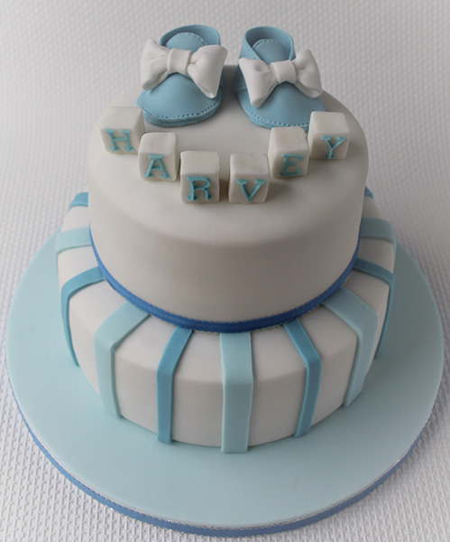 Fancy Baby Boy Shower Cakes