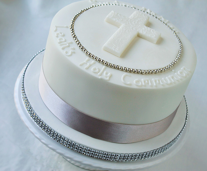 Baptism Cross Cake Designs
