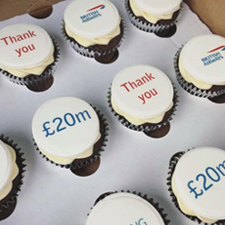 Branded cupcakes for British Airways