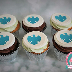 Barclays corporate branded cupcakes
