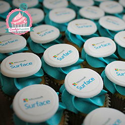 Microsoft Surface corporate branded cupcakes