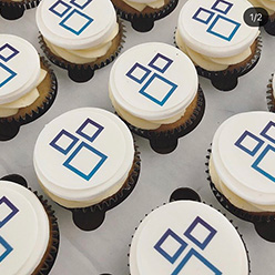 Interact corporate branded cupcakes