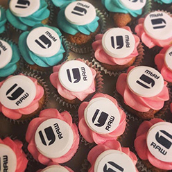 GSTAR corporate branded cupcakes