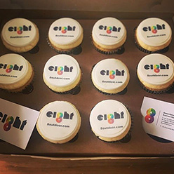 8 Outdoor corporate branded cupcakes