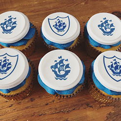 BBC Blue Peter corporate branded cupcakes