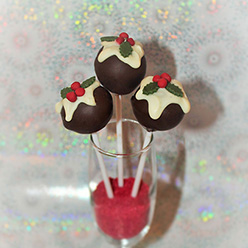 Christmas pudding cake pops - treats and wedding favours