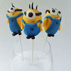 minion cake pops - treats and wedding favours