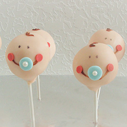 baby cake pops - treats and wedding favours