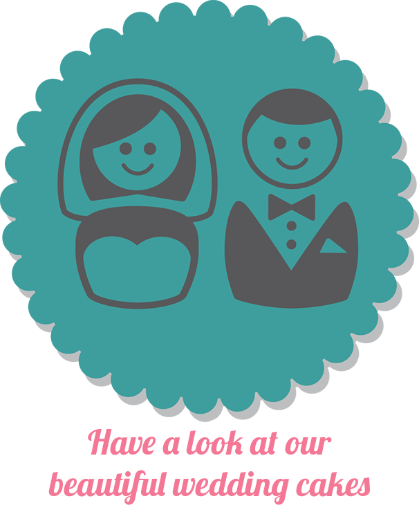bride and groom wedding cake icon