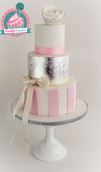pink white and silver wedding cakes wedding cakes amp cupcakes manchester s cupcakes 18601