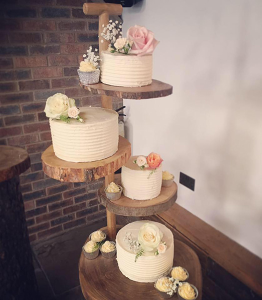 wooden wedding cake stand hire wedding cakes amp cupcakes manchester s cupcakes 27602